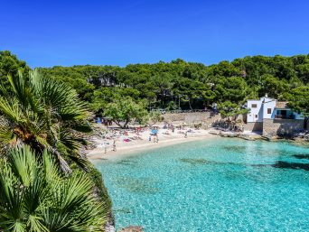 Cala Gat at Ratjada - beautiful beach and coast of Mallorca, Spain