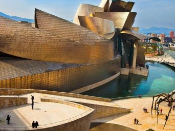 Modern architecture in Bilbao.